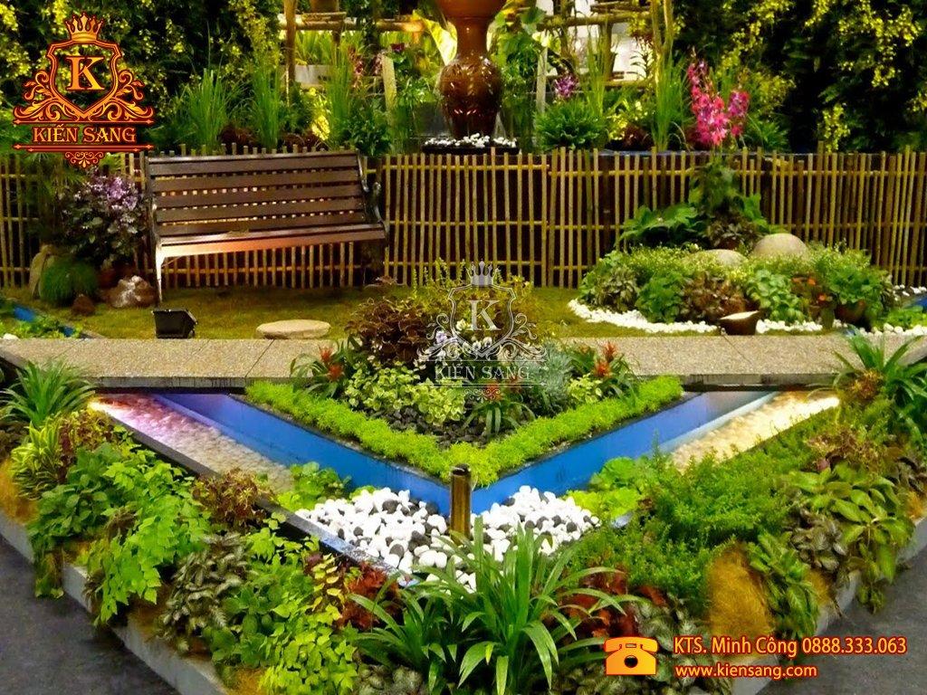 Tiểu cảnh sân vườn tại Thường Tín