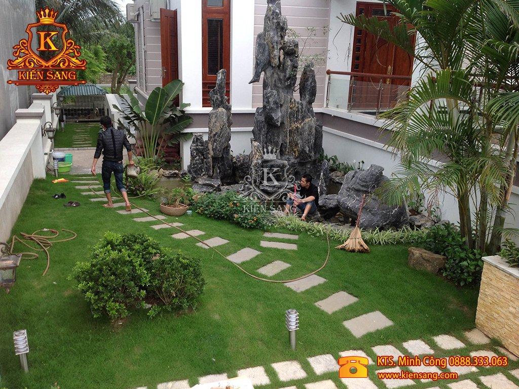 Tiểu cảnh sân vườn tại Quốc Oai