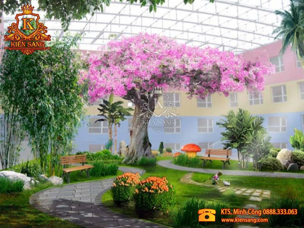 Tiểu cảnh sân vườn tại Hoài Đức