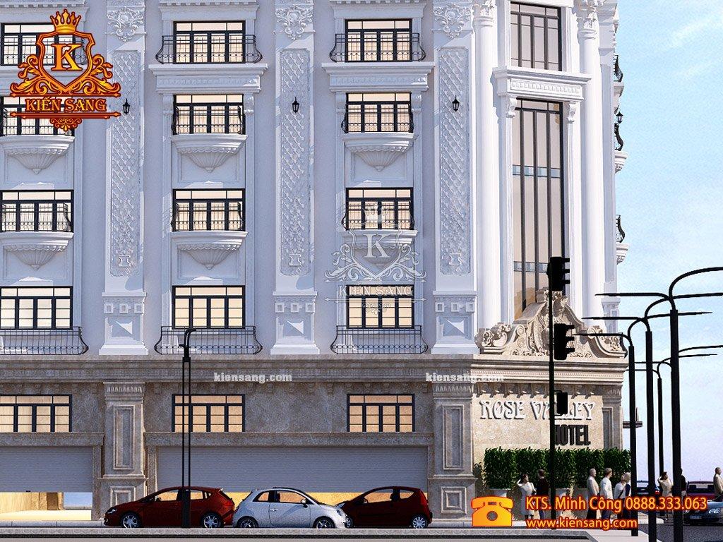Khách sạn 4 tầng tân cổ điển tại Cầu Giấy
