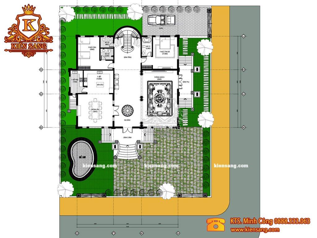 Biệt thự 3 tầng 6 phòng ngủ