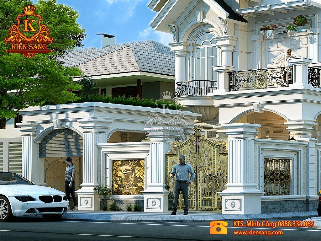 Biệt thự 2 tầng tân cổ điển tại Ba Đình