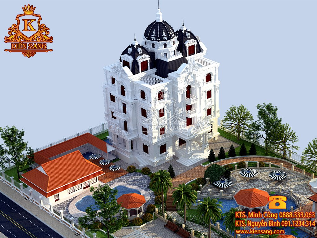 Biệt thự 5 tầng cổ điển tại Vĩnh Phúc