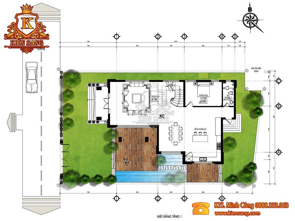 Biệt thự sân vườn 3 tầng cổ điển