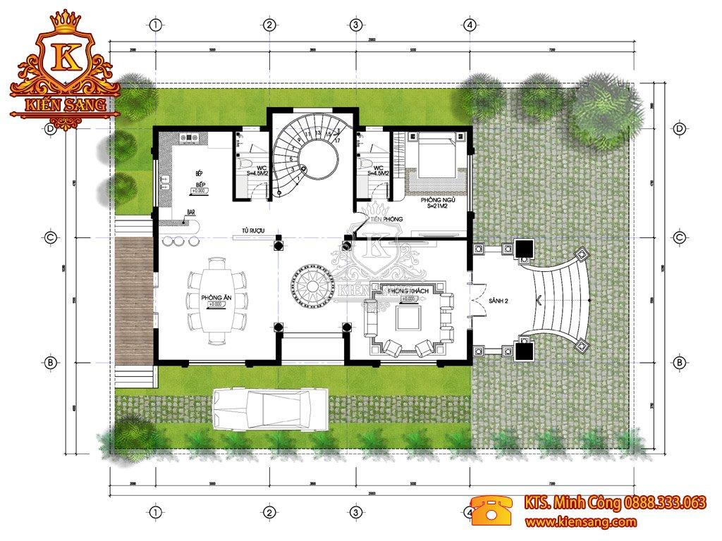 Biệt thự 3 tầng tân cổ điển tại Ninh Hiệp