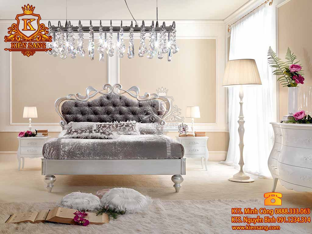 Mẫu thiết kế nội thất phòng ngủ biệt thự cổ điển