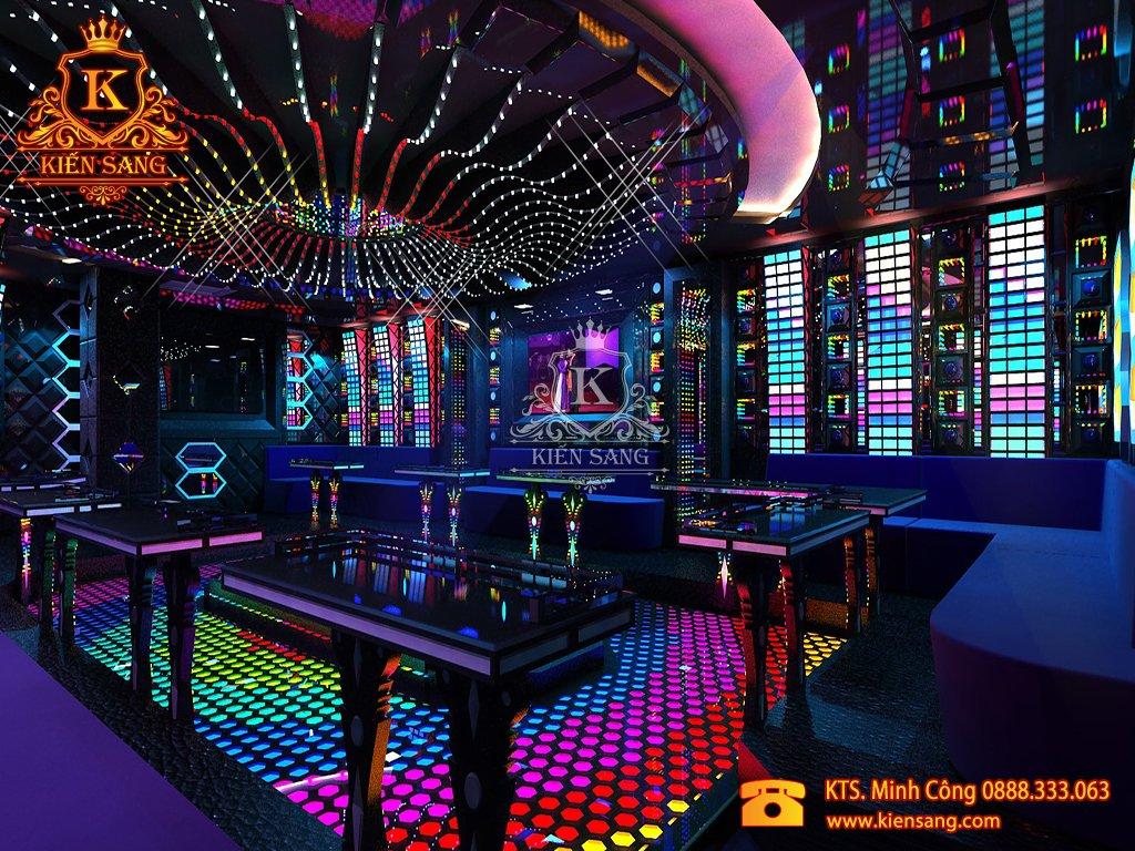 Mẫu thiết kế nội thất phòng Karaoke biệt thự cổ điển