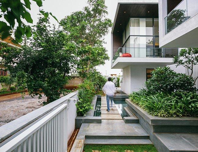 Biệt thự 2 tầng song lập diện tích 500m2 nổi bật ở Nông Thôn