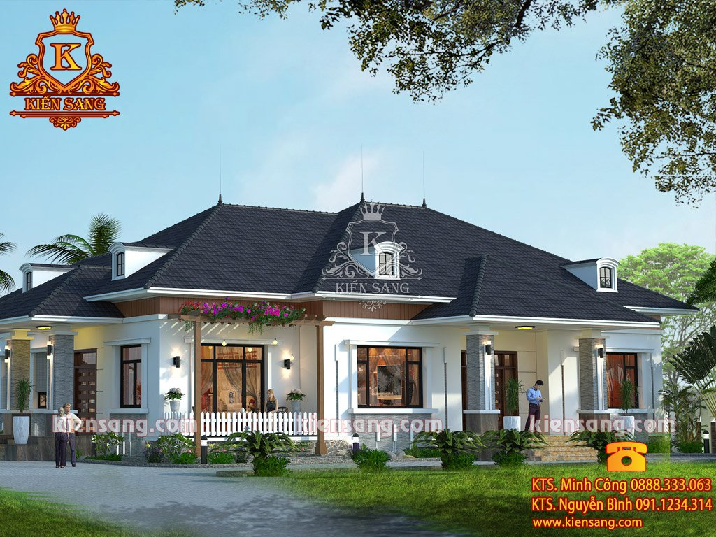 Bản vẽ kiến trúc 1 tầng Bắc Giang