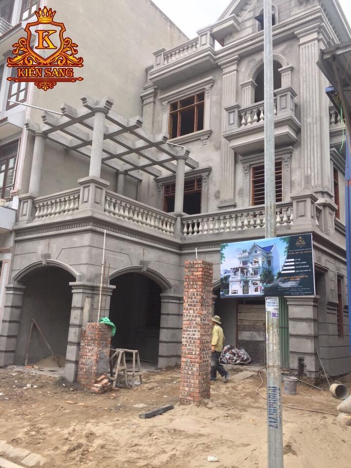 Kiến Sang giám sát thi công giai đoạn hoàn thiện biệt thự tại Bắc Ninh