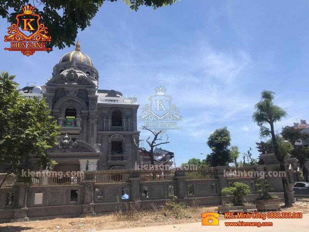 Kiến Sang hoàn thiện dự án thiết kế lâu đài 5 tầng tại Hà Nội