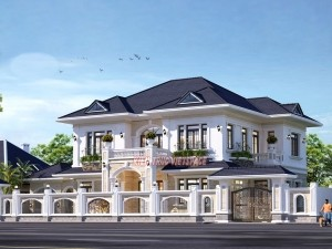 Biệt thự 2 tầng tân cổ điển tại Bắc Ninh