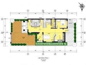 Biệt thự 2 tầng hiện đại 1 mặt tiền