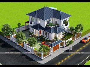 Biệt thự hiện đại 2 tầng tại huyện Phù Cừ