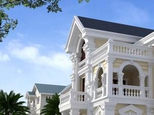 Biệt thự 3 tầng cổ điển 2 mặt tiền