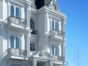 Biệt thự 4 tầng cổ điển song lập