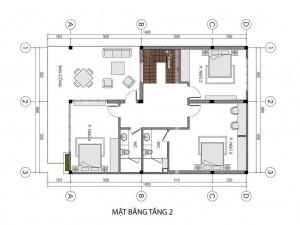 Biệt thự 2 tầng hiện đại 150m2