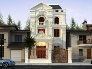 Biệt thự 3 tầng cổ điển kiểu Pháp