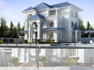 Biệt thự 3 tầng cổ điển Châu Âu