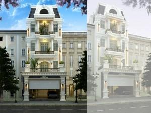 Khách sạn 4 tầng tân cổ điển tại Hà Nội