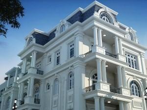 Biệt thự 4 tầng tân cổ điển kiểu Pháp