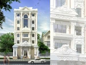 Biệt thự 4 tầng tân cổ điển tại Thái Nguyên