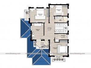 Biệt thự 2 tầng hiện đại 110m2