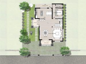 Biệt thự 3 tầng tân cổ điển 130m2