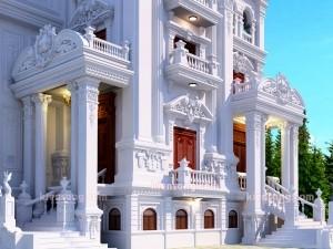 Biệt thự 3 tầng cổ điển sang trọng