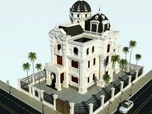 Nhà phố 4 tầng cổ điển tại Long Biên
