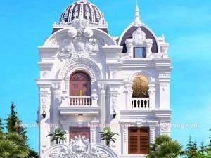 Thiết kế biệt thự 3 tầng cổ điển ông Dần Bình Dương