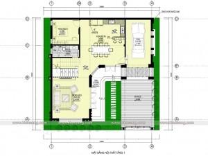 Biệt thự 2,5 tầng tân cổ điển 120m2