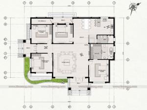 Biệt thự hiện đại 1 tầng tại Hà Nam