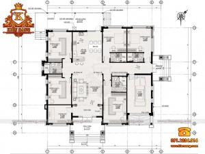 Biệt thự hiện đại 1 tầng 150m2