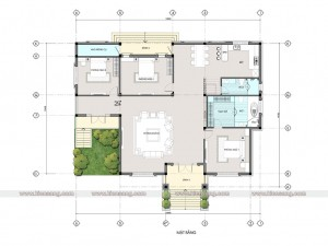 Biệt thự hiện đại 1 tầng 200m2