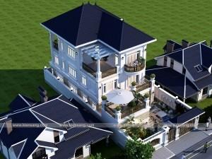Biệt thự 3 tầng tân cổ điển 150m2