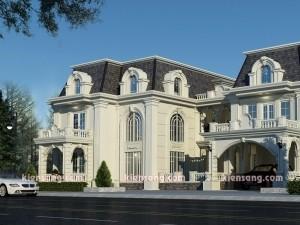 Mẫu biệt thự 2 tầng kiểu Pháp cổ điển