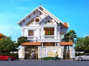 Mẫu biệt thự 2 tầng cổ điển đẹp nhất 2019