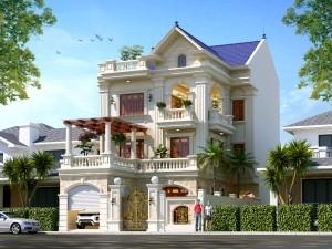 Mẫu biệt thự 3 tầng tân cổ điển tại Bắc Ninh