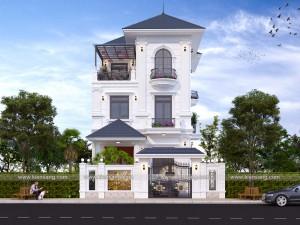 Mẫu biệt thự 3 tầng tân cổ điển tại Thanh Hóa