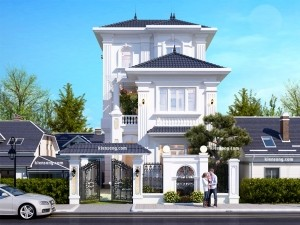 Dự án thiết kế Nhà biệt thự 3 tầng kiểu Châu Âu tại Hà Nội