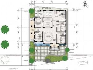 Biệt thự 1 tầng tân cổ điển tại Hà Nội