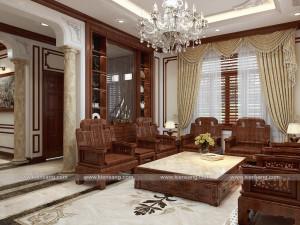 Thiết kế biệt thự 1 tầng 3 phòng ngủ tại Ninh Giang - Hải Dương