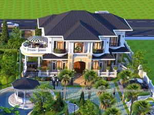 Thiết kế dinh thự 2 tầng tân cổ điển tại Hạ Long - Quảng Ninh
