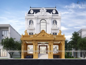Thiết kế biệt thự 3 tầng cổ điển kiểu Pháp tại Yên Bái