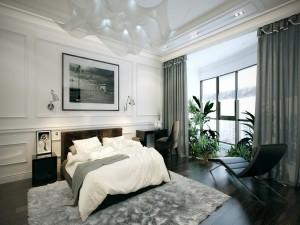 Nội thất chung cư tân cổ điển tại Long Biên