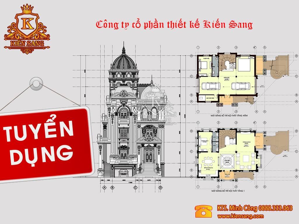 Tuyển kiến trúc sư thiết kế tại Hà Nội