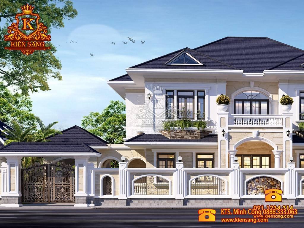 HOT: Công trình thiết kế biệt thự 2 tầng 10 tỷ tại Bắc Ninh