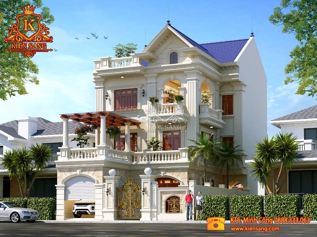 Biệt thự 3 tầng tân cổ điển có gara đẹp tại Bắc Ninh