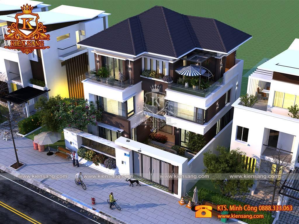 Thiết kế biệt thự 3 tầng hiện đại tại Nghệ An